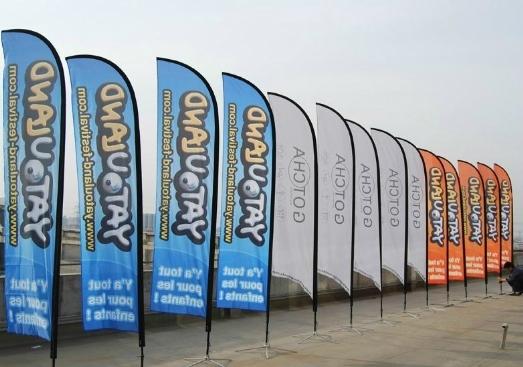 Banner, Beachflag og Logoflag,Eventflag  Skilte Design Randers