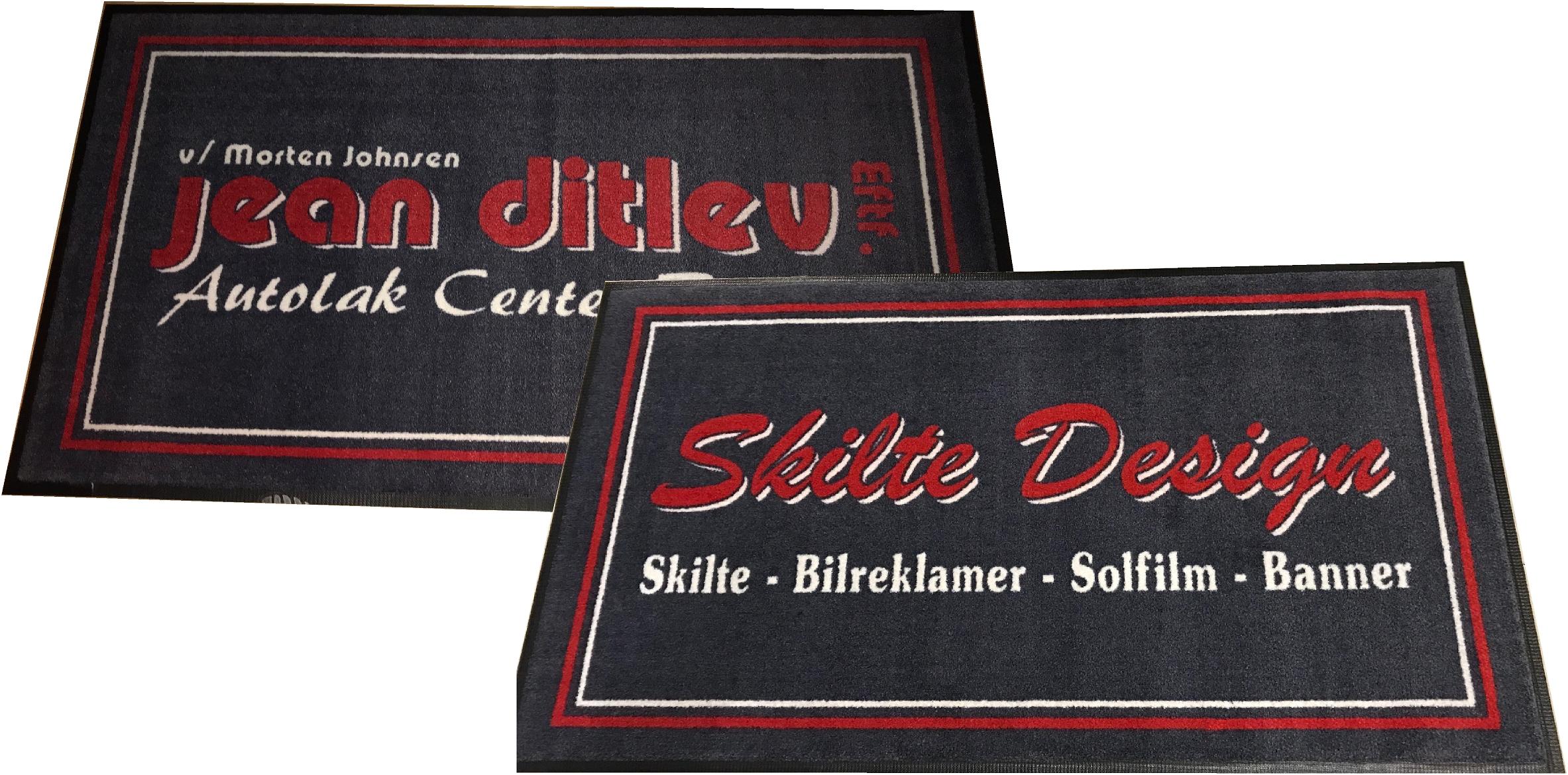 Skridesikre kvalitets dørmåtte med logo | Gulvmåtte | Reklamemåtte | Logomåtte | vi køre i Randers, Aarhus, Djursland, Midtjylland, Østjylland & Nordjylland