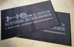 HB EL SERVICE | Logomåtter fra Skilte Design Randers