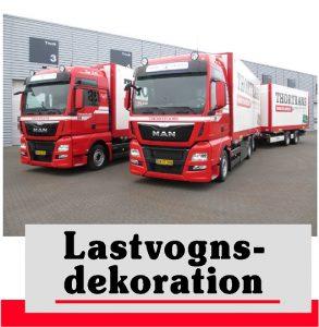 Lastvognsdekoration | Reklamer til lastbiler | Stafferinger | Skilte Design Randers| Skilte Design Randers | Skiltecenter i Randers | Folie | Skilte | Reklame | Tekstiltryk |