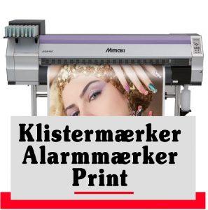 Klistermærker | Alarmmærker | Labels | Print | Streamers Skilte Design Randers| Skilte Design Randers | Skiltecenter i Randers | Folie | Skilte | Reklame | Tekstiltryk |
