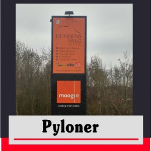 Pyloner – Vægpyloner – Hængepyloner – Vingepyloner – Special pyloner | Skilte Design Randers